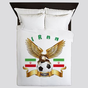 Iran Football Design Queen Duvet