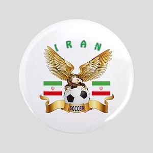 """Iran Football Design 3.5"""" Button"""