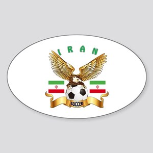 Iran Football Design Sticker (Oval)