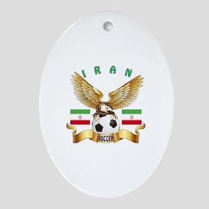 Iran Football Design Ornament (Oval)
