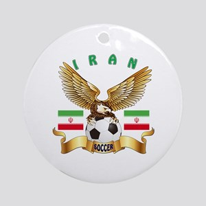 Iran Football Design Ornament (Round)