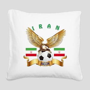 Iran Football Design Square Canvas Pillow