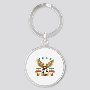 Iran Football Design Round Keychain