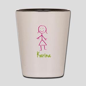 Karina-cute-stick-girl Shot Glass