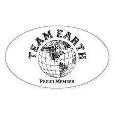 Team Earth : Proud Member Sticker (Oval)