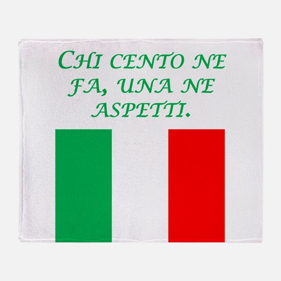 Italian Proverb What Goes Around Throw Blanket