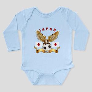 Japan Football Design Long Sleeve Infant Bodysuit