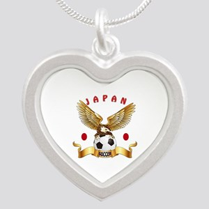 Japan Football Design Silver Heart Necklace