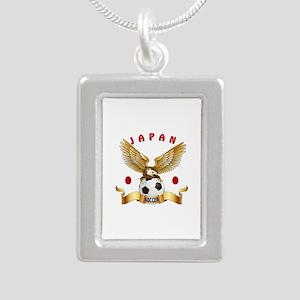 Japan Football Design Silver Portrait Necklace