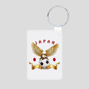 Japan Football Design Aluminum Photo Keychain