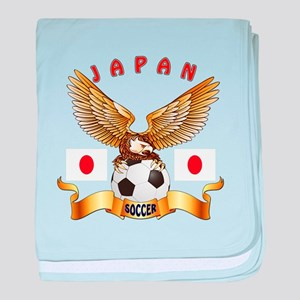Japan Football Design baby blanket