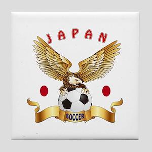 Japan Football Design Tile Coaster
