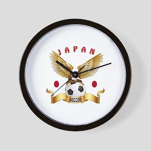 Japan Football Design Wall Clock