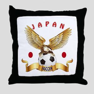 Japan Football Design Throw Pillow
