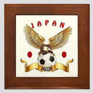 Japan Football Design Framed Tile