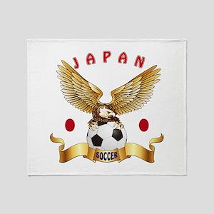 Japan Football Design Throw Blanket