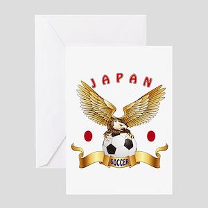 Japan Football Design Greeting Card