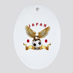 Japan Football Design Ornament (Oval)