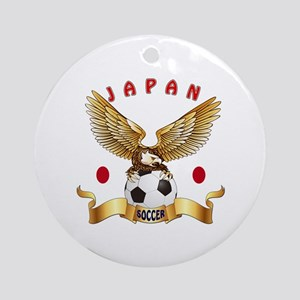 Japan Football Design Ornament (Round)