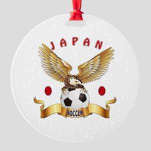 Japan Football Design Round Ornament