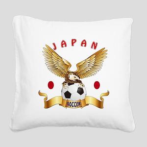 Japan Football Design Square Canvas Pillow