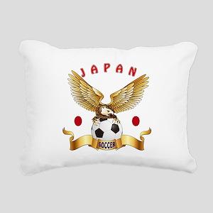 Japan Football Design Rectangular Canvas Pillow