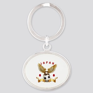 Japan Football Design Oval Keychain