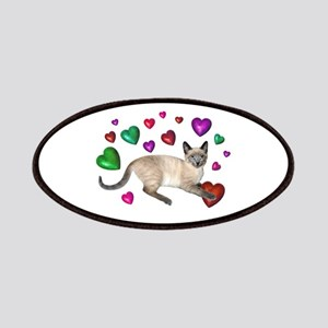 Cat Hearts Love Patches