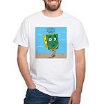 Scrungepad Nopants White T-Shirt