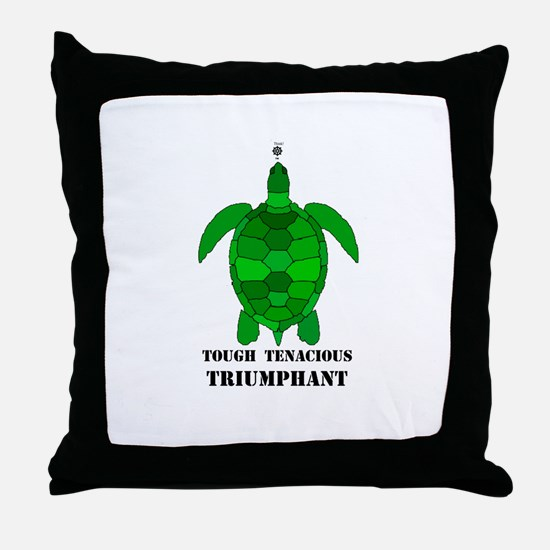 Green Turtle-Tough-Tenacious-Triumphant Throw Pill