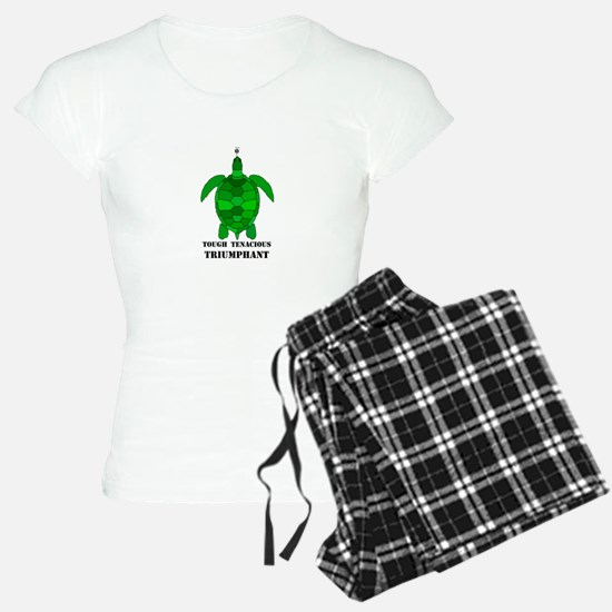 Green Turtle-Tough-Tenacious-Triumphant Pajamas
