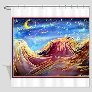 Landscape! Desert night! art, Shower Curtain