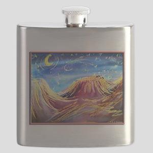 Landscape! Desert night! art, Flask