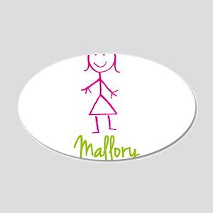Mallory-cute-stick-girl 20x12 Oval Wall Decal