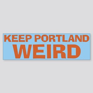 Keep Portland Weird - Orange Sticker (Bumper)