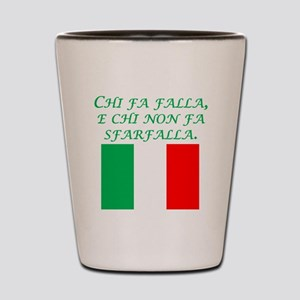 Italian Proverb Those Who Act Shot Glass