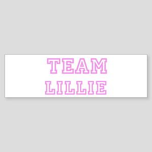 Pink team Lillie Bumper Sticker