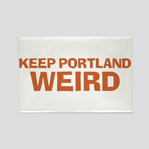 Keep Portland Weird - Orange Rectangle Magnet