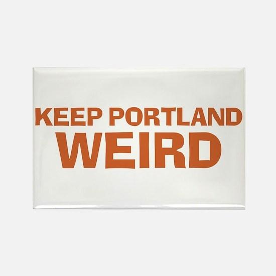 Keep Portland Weird - Orange Rectangle Magnet