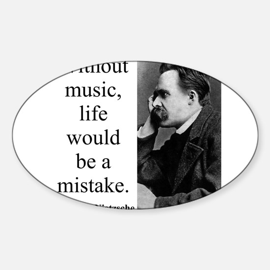 Without Music - Nietzsche Decal