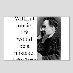 Friedrich Wilhelm Nietzsche Quotes Nihilism Postcards Cafepress