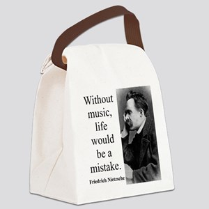 Without Music - Nietzsche Canvas Lunch Bag