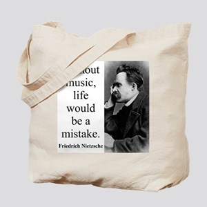 Without Music - Nietzsche Tote Bag