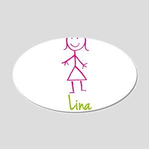 Lina-cute-stick-girl 20x12 Oval Wall Decal