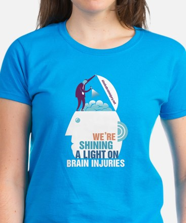 Shining a Light on Brain Injury Women's Dark T-Shi