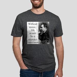 Without Music - Nietzsche Mens Tri-blend T-Shirt