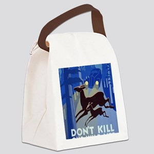 Don't Kill our Wildlife Canvas Lunch Bag