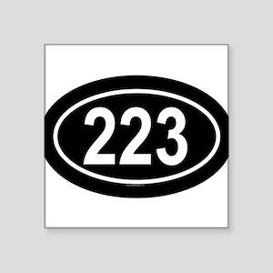 223 Oval Sticker