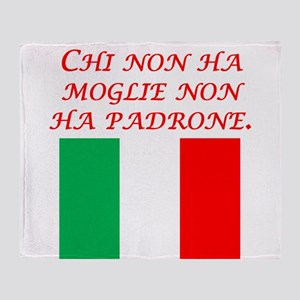 Italian Proverb Without A Wife Throw Blanket