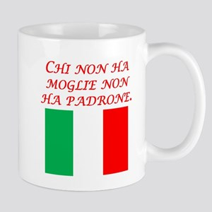 Italian Proverb Without A Wife Mug